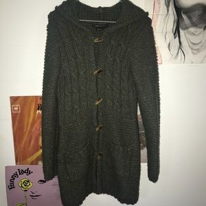 BCBG Knit Sweater with Hood